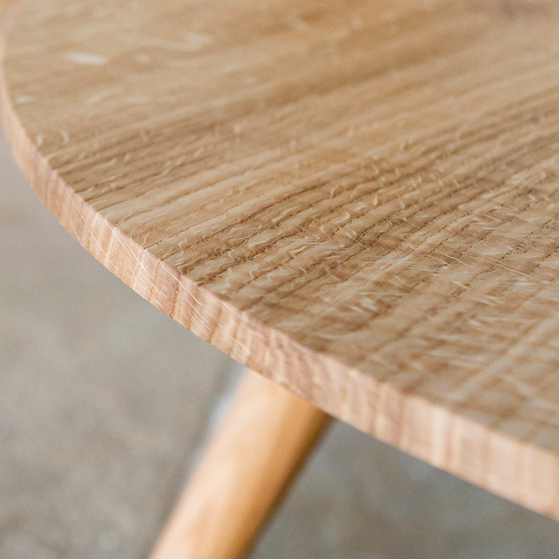 low round coffee table edge detail