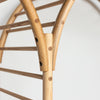 freestanding wooden ladder shelving by John Eadon arch connection detail
