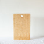 simple oak serving board with hanging hole