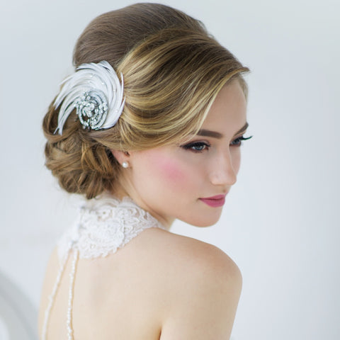 Adoria Luxe Feather Bridal Headpiece