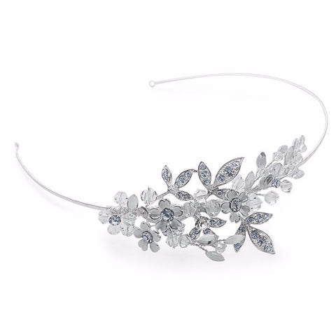 Aspen Floral Bridal Side Tiara