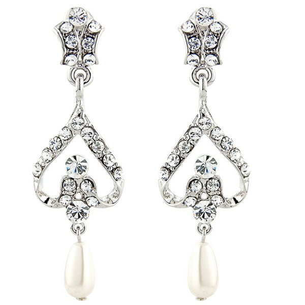 Vintage Glamour Pearl Bridal Earrings