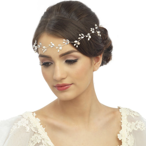 Chic Freshwater Pearl Bridal Hairvine