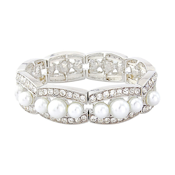 Chic Pearl Stretch Bridal Bracelet