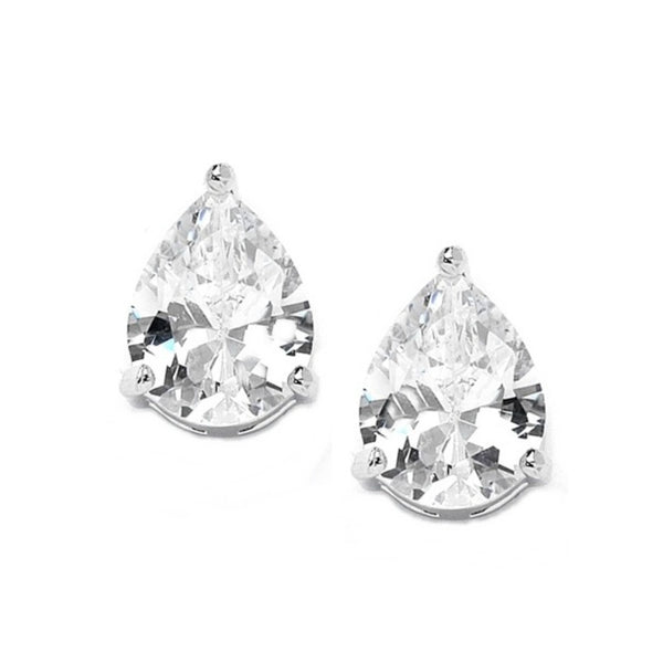 Classic Crystal Stud Bridal Earrings
