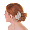 Bridal Hair Clip With Bugle Beads