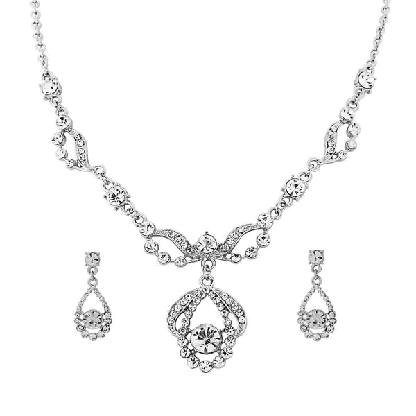 Crystal Bridal Necklace & Earring Set