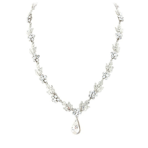 Crystal Bridal Necklace Earrings Set