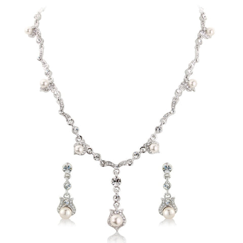 Crystal Chic Bridal Necklace & Earrings Set
