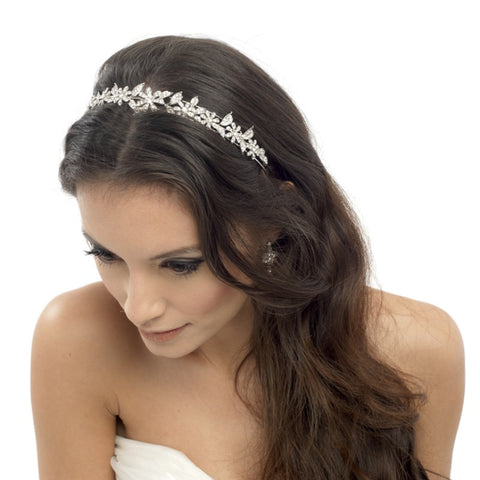 Crystal Chic Floral Bridal Headband