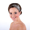 Wedding Side Tiara Encrusted With Clear Crystals