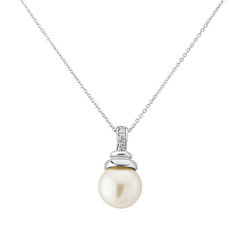 Chic Ivory Pearl Bridal Necklace
