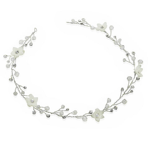 Delicate Flower Bridal Hair Vine