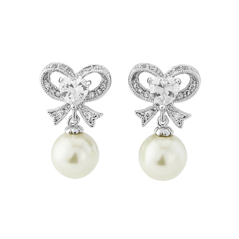 Eternal Pearl Bridal Earrings