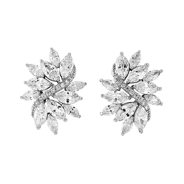 Eternally Chic Crystal Bridal Earrings In Silver