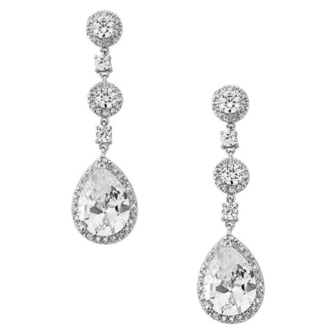 Eternally Crystal Bridal Earrings In Silver