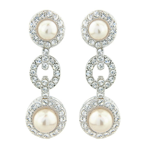 Exquisite Pearl Bridal Earrings
