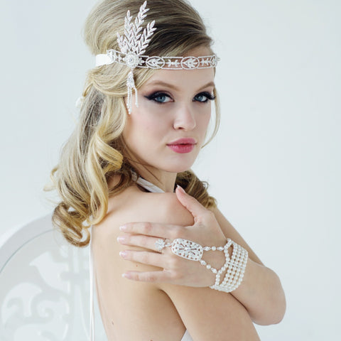Gatsby Glam Luxe Pearl Bridal Bracelet