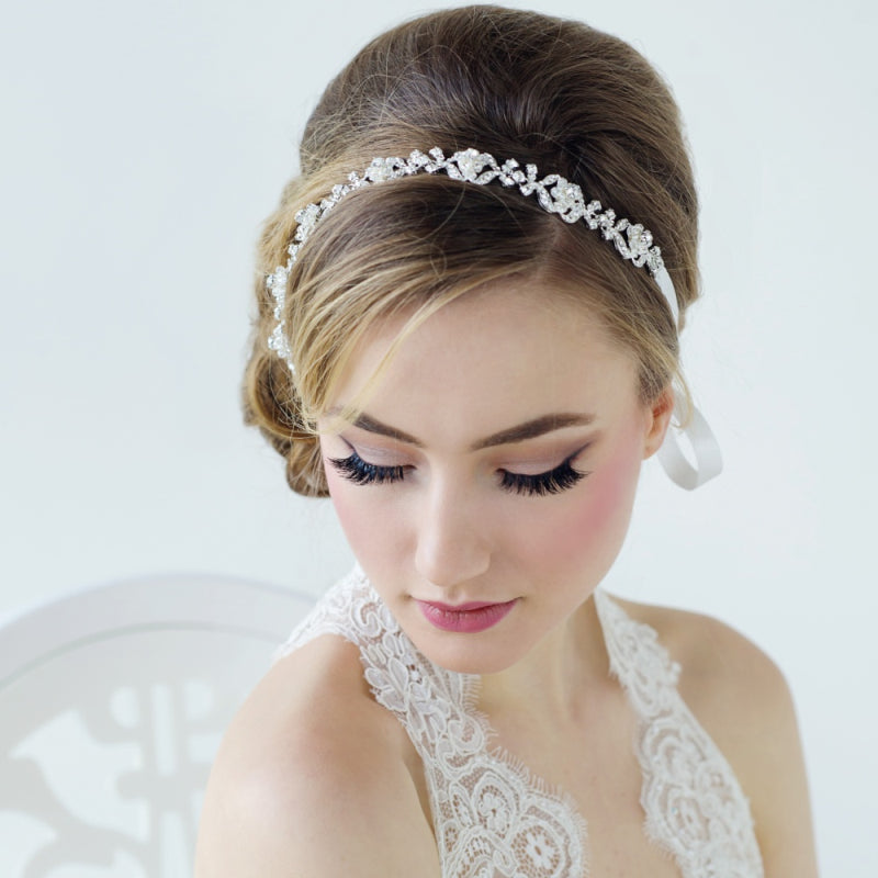 Awesome Leanna Crystal Luxe Bridal Hair Vine Victoria Louise Bridal Hairstyle Inspiration Daily Dogsangcom