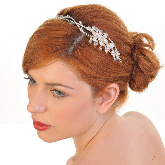 Wedding Side Headband Set With Diamante Crystals