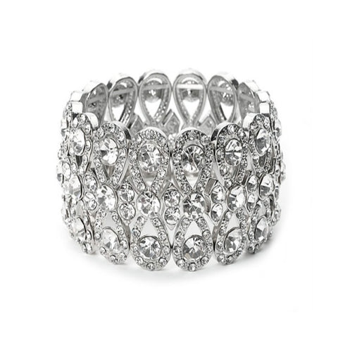 Luxe Crystal Stretch Bridal Bracelet