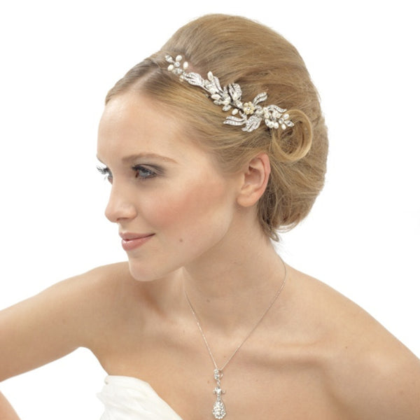 Luxurious Crystal & Pearls Bridal Hair Comb