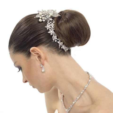 Luxurious Crystals & Pearl Bridal Hair Comb