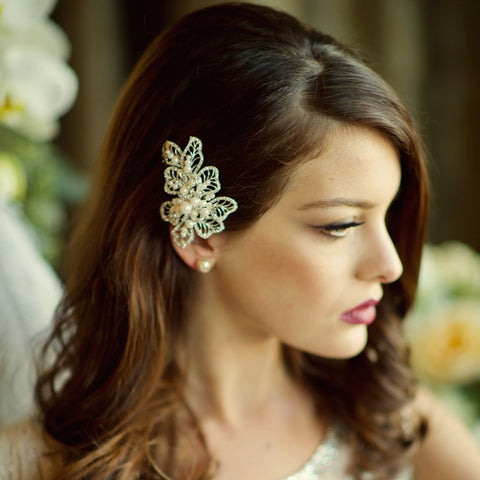 Mia Crystal & Pearl Bridal Headpiece