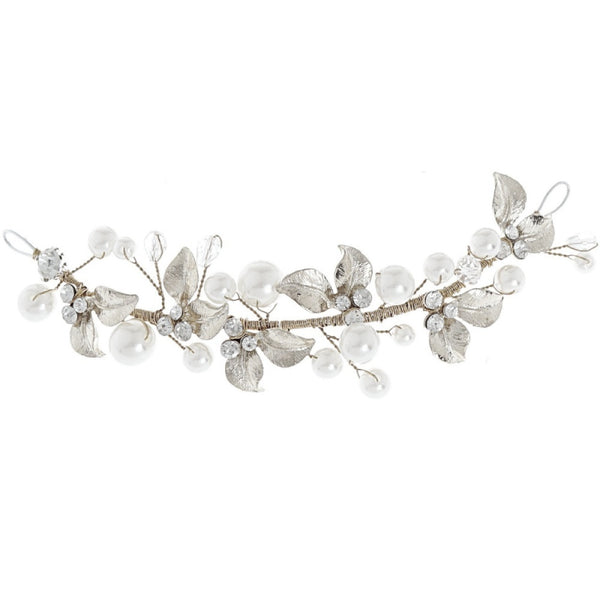 Mini Luxe Bridal Hair vine In Silver