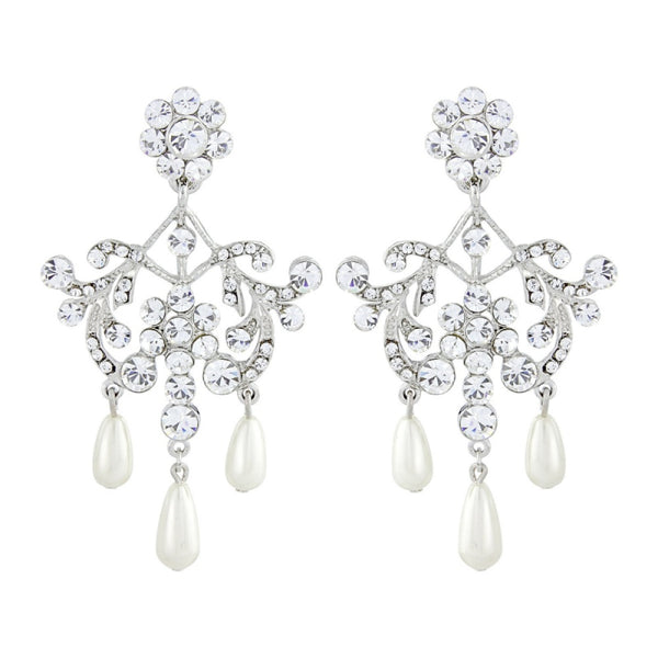 Precious Pearl Vintage Bridal Earrings