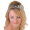 Vintage Looking Large Diamante Flower Side Headband