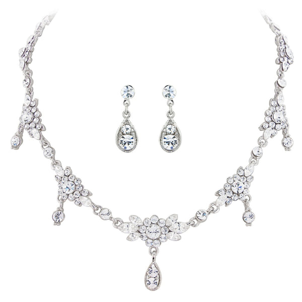 Pretty Chic Bridal Necklace & Earrings Set