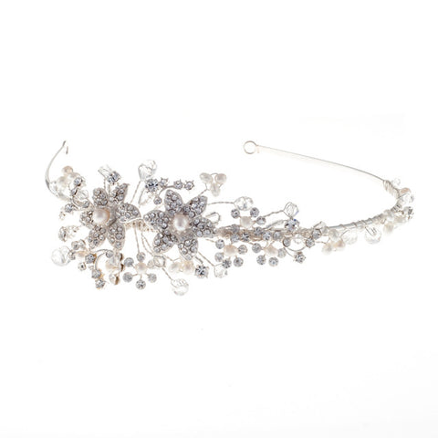 Vintage Inspired Headband With Diamante Crystals