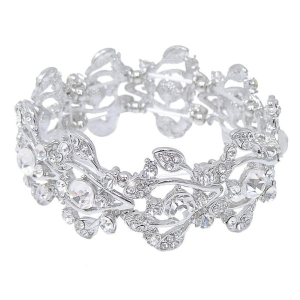 Shimmer Stretch Bridal Bracelet