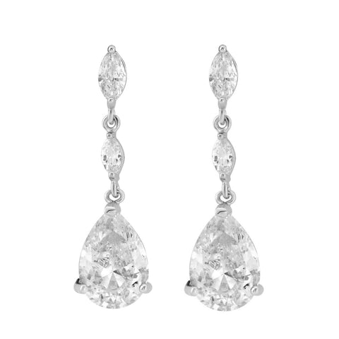 Sparkle Drop Bridal Earrings