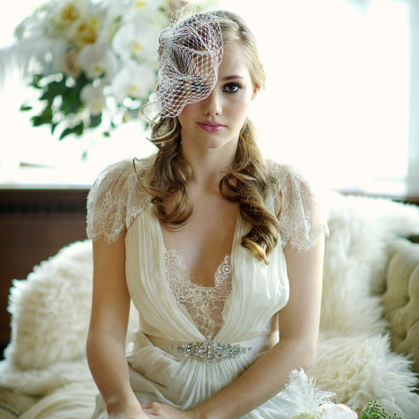 Starlet Birdcage Veil With Embellishment