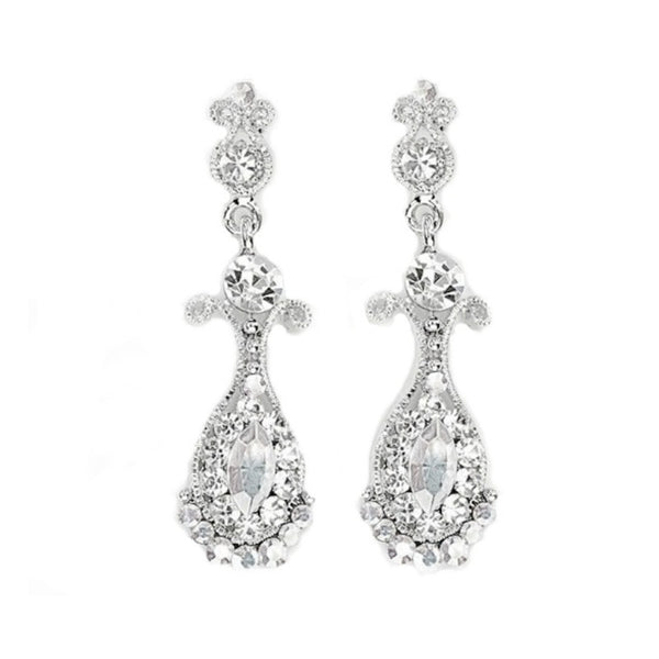 Swarovski Crystal Petite Chandelier Bridal Earrings