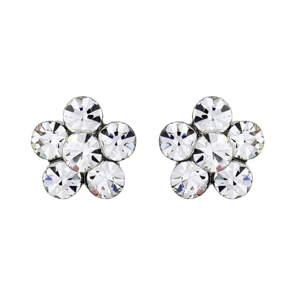 Swarovski Pretty Flower Crystal Bridal Earrings
