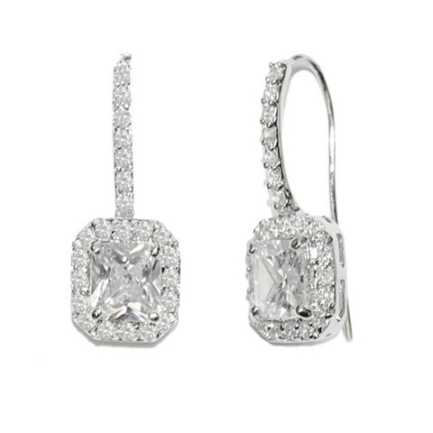 Timeless Beauty Crystal Bridal Earrings In Silver