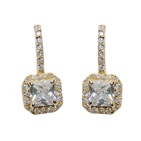 Timeless Beauty Crystal Bridal Earrings In Gold