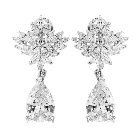 Vintage Glam Petite Crystal Bridal Earrings