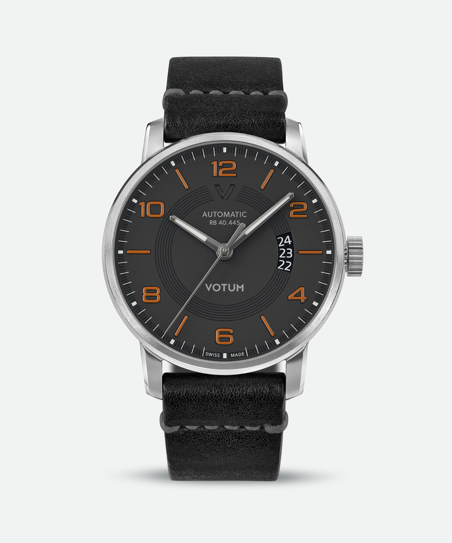 classic pin black watches leather