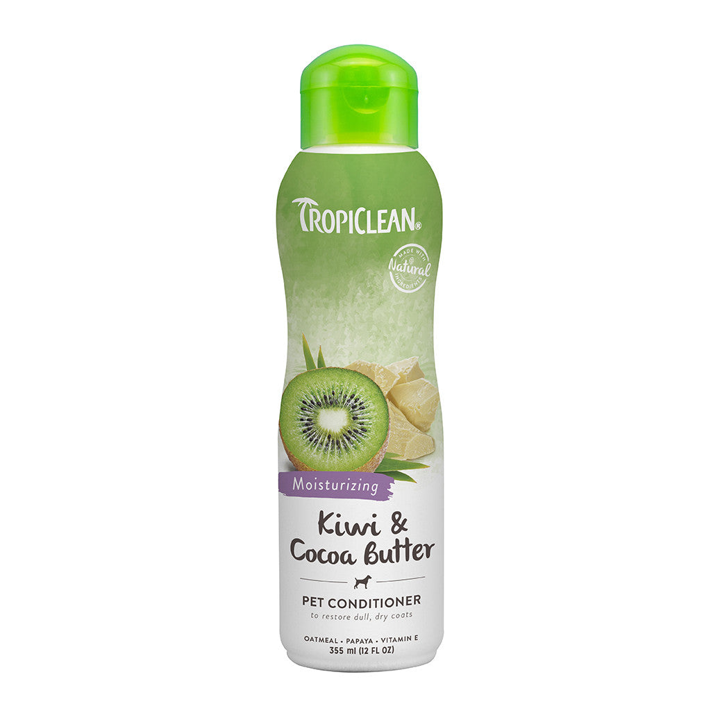 20% OFF: TropiClean® Kiwi & Cocoa Butter Conditioner for Dogs & Cats (355ml)