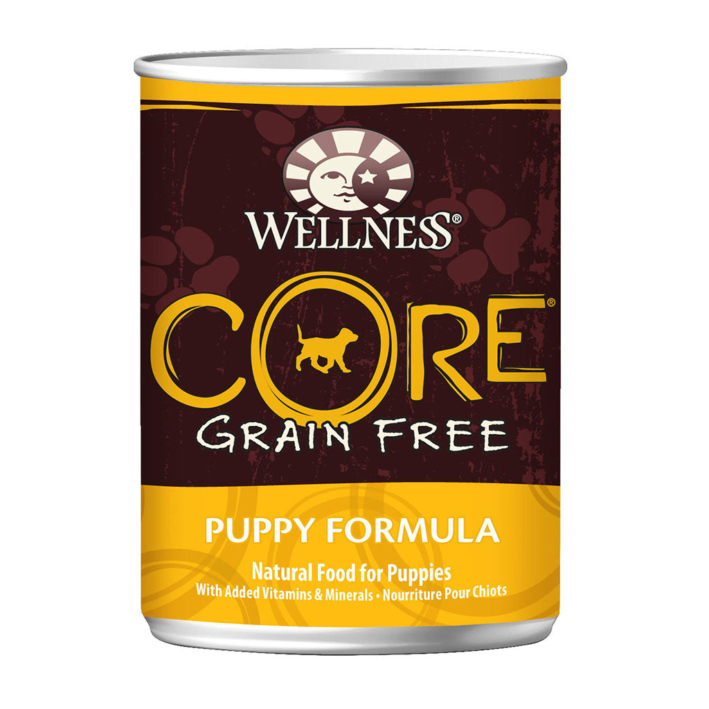 30% + FREE TREATS: Wellness® CORE Puppy Grain-Free Canned Dog Food 354g (6/12/24pcs)