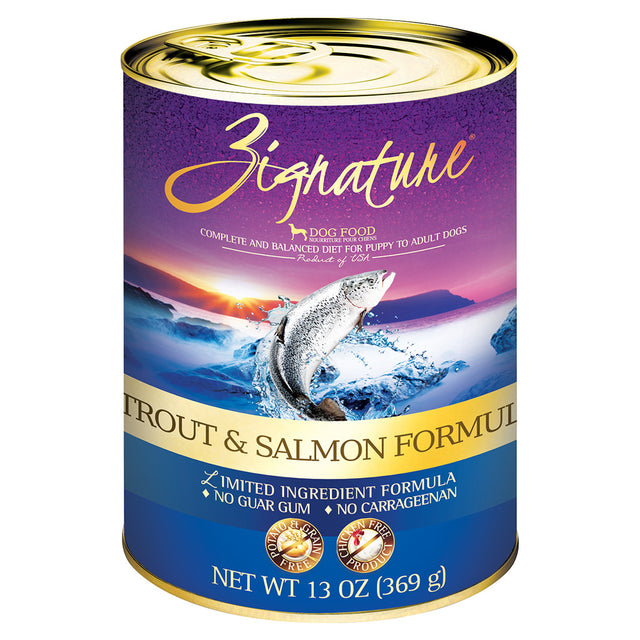 35% OFF: Zignature® Trout & Salmon Grain-Free Canned Dog Food 369g (12pcs)