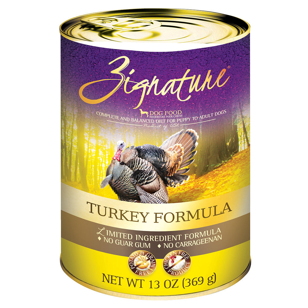 33% OFF: Zignature® Turkey Grain-Free Canned Dog Food 369g (12pcs)