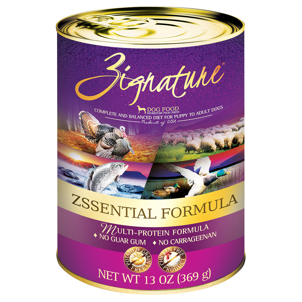 33% OFF: Zignature® Zssentials Grain-Free Canned Dog Food 369g (12pcs)