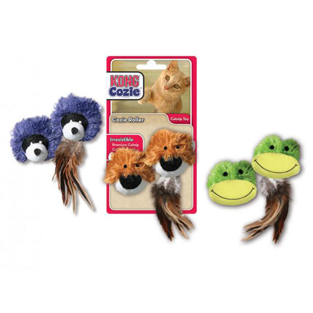 15% OFF: KONG® Cozie Rollers Frog / Raccoon / Bear Cat Toy