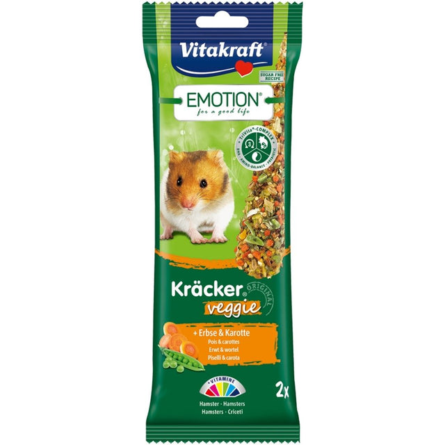 10% OFF: Vitakraft® Emotion Kracker Veggie Hamster Treats (2 pcs)