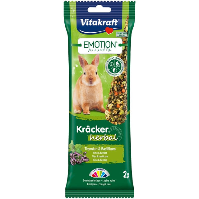 10% OFF: Vitakraft® Emotion Kracker Herbal Rabbit Treats (2 pcs)